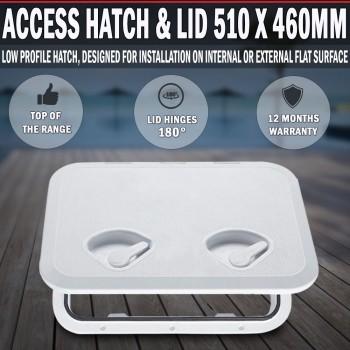 Access White Hatch & Lid 510 x 460mm - Marine Boat Caravan RV Storage