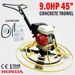 "45"" Honda Concrete Trowel 9HP Engine Helicopter Trowelling Troweller Machine"