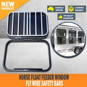 New Brand New Horse Float Feeder Window Fly Wire Safety Bars