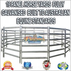 16 Panel Horse Yards Inc Gate, round Yard, Cattle Fences, Corral