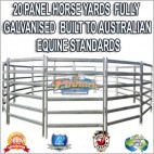 20 Panel Horse Yards Inc Gate, round Yard, Cattle Fences, Corral