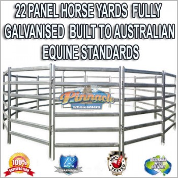 22 Panel Horse Yards Inc Gate, round Yard, Cattle Fences, Corral