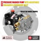 New 3600PSI Pressure Washer Pump With Adjustable Unloader & Detergent Inlet