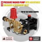 New 4200PSI Pressure Washer Pump With Adjustable Unloader & Detergent Inlet