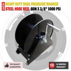 New Super heavy Duty Hose Reel suitable For 60 Meters Of 3/8 High Pressure Hose Up to 5000Psi