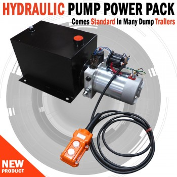 Hyydraulic Pump Power Pack Unit 12V Single Acting 3200Psi 10L Steel Tank & Hand Remote