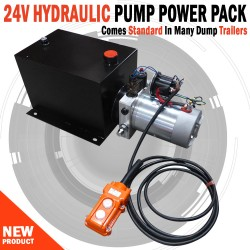 Hyydraulic Pump Power Pack Unit 24V Single Acting 3200Psi 10L Steel Tank & Hand Remote