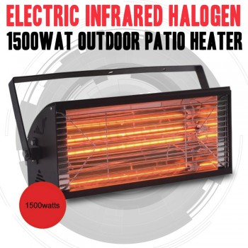 1500WAT ELECTRIC INFRARED HALOGEN OUTDOOR PATIO HEATER