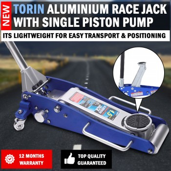 NEW Torin Aluminium Trolley Race Jack 1.5 Ton With Single Piston Pump