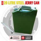 New 20 litre Steel Jerry Can Fuel Container With Spout
