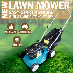 "16"" Lawn Mower Easy Start Twin Blade Lawnmower 4 stroke 50L"