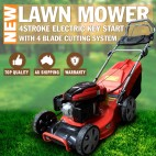 """18"""" Lawn Mower Electric Key Start Self Propelled Lawnmower 4 stroke 70L 4 Stroke"""