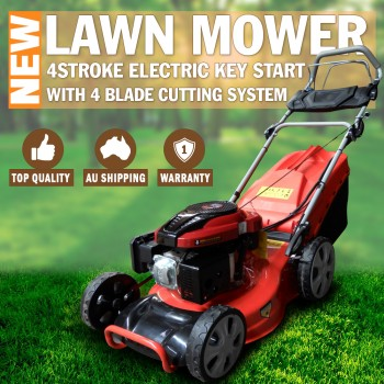 "18"" Lawn Mower Electric Key Start Self Propelled Lawnmower 4 stroke 70L 4 Stroke"