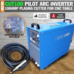 Cut 100 Pilot Arc Plasma Cutter Inverter 100 AMP for CNC Table