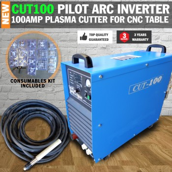 Cut 100 Pilot Arc Plasma Cutter Inverter 100 AMP for CNC Table