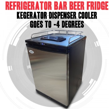 REFRIGERATOR BAR BEER FRIDGE, KEGERATOR DISPENSER COOLER GOES TO -4 DEGREES