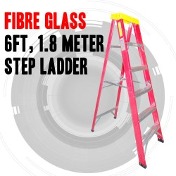 FIBRE GLASS 6FT, 1.8 METRE STEP LADDER AUSTRALIAN APPROVED