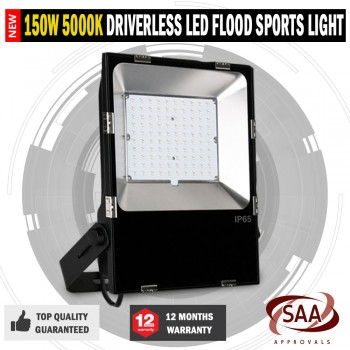 NEW Commercial Driverless 150W 5000K LED Luminous Flood Sports Security Light
