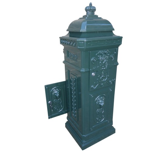 Aluminium Green Stand Letterbox Tower Vintage Mailbox Post