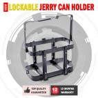 NEW LOCKABLE JERRY CAN HOLDER SUITS FOR METAL & PLASTIC FUEL WATER CANS 10 & 20L