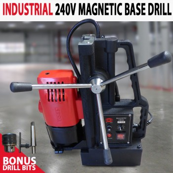 Industrial 240v 1800Watt 32mm Magnetic Base Drill Extra Long Travel