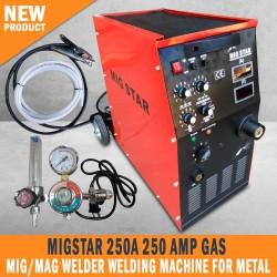New MIGSTAR 250A 250 Amp Gas Mig/Mag Welder Welding Machine for Metal