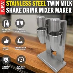 Commercial Stainless Steel Twin Milk Shake Drink Mixer Maker Blender