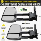 Electric HighVis Side Mirrors Toyota Land Cruiser 200 Series Indicators