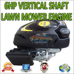 6HP VERTICAL SHAFT ENGINE MOTOR FOR RIDE ON OR PUSH MOWER, NAME BRAND