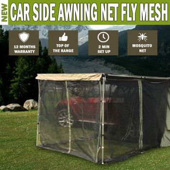 Car Side Awning NET Fly MESH Shade 2.5MX2.5M 4WD 4X4 Camper Trailer Camping