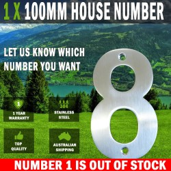 1 X 100 MM House Letter Box Numbers 304 Stainless Steel