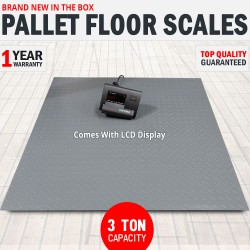 3 Ton Pallet Scales Industrial Warehouse Floor Freight Scales LCD Display