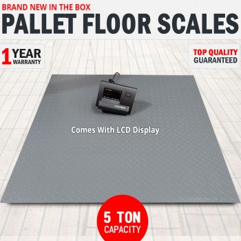 5 Ton Pallet Scales Industrial Warehouse Floor Freight Scales LCD Display