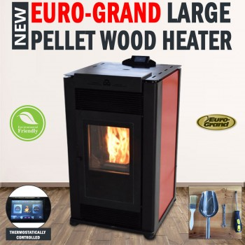 14KW Euro Grand Large Pellet Wood Heater Environmentally Friendly