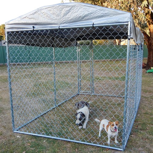 Pet supplies 3m x 2m x 21m dog kennel run pet enclosure for Dog fence enclosure