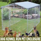 4.6m x 4.6m x 2.1m Dog Kennel Run Pet Enclosure Run Animal Fencing Fence Playpen