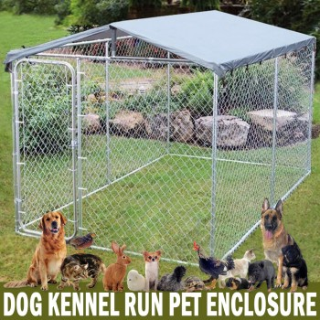 3m x 3m x 2.1m Dog Kennel Run Pet Enclosure Run Animal Fencing Fence Playpen