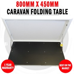 800mm X 450mm Caravan Folding WhiteTable Surface Mount Outdoor Picnic RV Camper