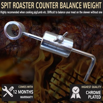 Pig Spit Counter Balance Weight For Spit Rotisserie Fits 16mm-25mm Skewer