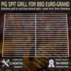 Stainless Steel Pig Spit Grill To Suit Euro-Grand 38cm X 50cm