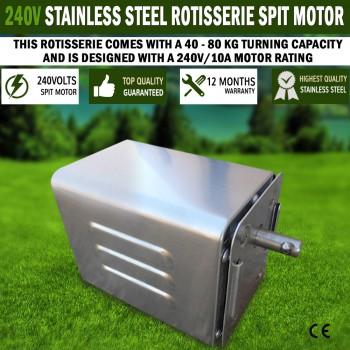 Euro-Grand Stainless Steel Rotisserie BBQ Spit 240V Motor 40/80kgs Capacity