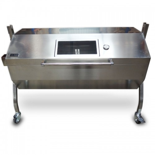 Large Stainless Steel 60kg Bbq Charcoal Pig Spit Roaster