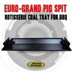 Euro-Grand Pig Spit Rotisserie Coal Tray, For Bbq