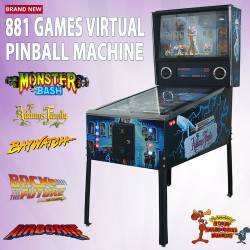 881 Games Virtual Pinball Machine Adams Family Decal Kit Coin Mechanism