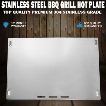 Stainless Steel BBQ Grill Hot Plate 49 X 32CM Premium 304 Grade