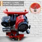 NEW Portable Mini Air Compressor Tyre Inflator Kit ZX35 5 LITRE 150L/MIN Car