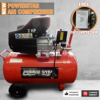 Electric Air Compressor Tank 2HP 50L Power Star Portable Direct Drive 240V