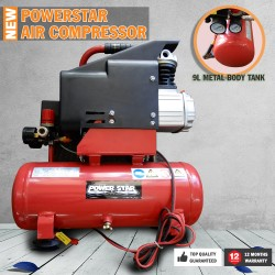 NEW Electric Air Compressor Tank 9L 1/3HP Power Star 12V Portable Direct Drive