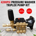 Pressure Washer Triplex Pump Kit 4200 PSI @ 16L/min