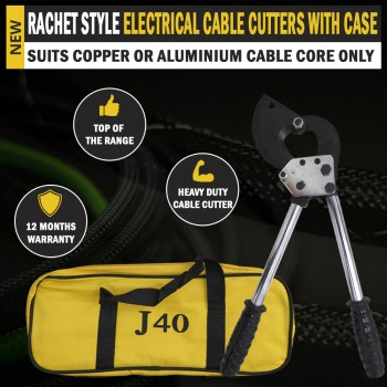 Heavy Duty Rachet Wire Electrical Cable Cutter Cut 300mm² With Carry Case